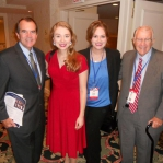 Stacie and Carrie with BOTT Radio founders Dick and Rich Bott, a dynamic father-son team in Christian radio