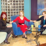 Stacie and Carrie on Monica Schmelter’s excellent show (Bridges) on CTN. Monica is a special friend to the girls.