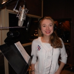 Stacie recording in beautiful Indiana at Bill and Gloria Gaither's studio