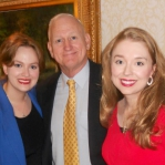 Carrie and Stacie with Lt. General William Boykin, a man who has played a role in almost every recent major American military operation